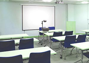 A typical classroom used for product training